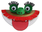 paper plate dragon